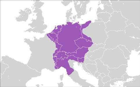 Площадь государства примерно в начале 17 века